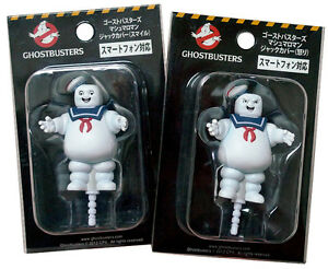 GHOSTBUSTERS-STAY-PUFT-x2-Set-Earphone-Jack-Anti-Dust-marshmallow-man-JAPAN
