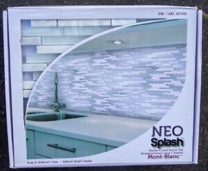 Marble and Glass Fusion Tile--Neo Splash