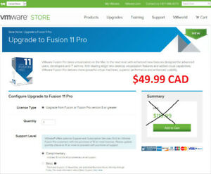 ReSell VMware Fusion Pro 11 (for MacBook) - Lifetime - BC Areas