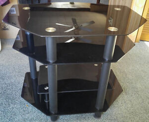 Tinted Glass TV Entertainment Stand. Must Sell!