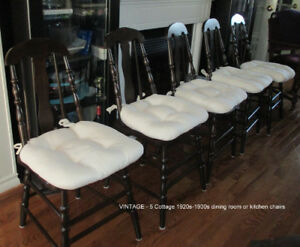 5 Vintage Kitchen or dining room wooden chairs