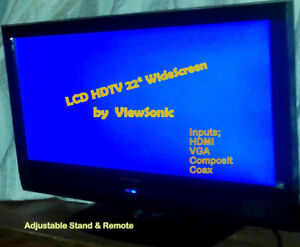 """LCD HDTV  22"""" Flat Panel Wide Screen TV & Computer Monitor"""
