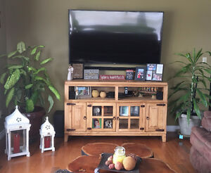 Rustic pine hacienda tv stand from Mexico