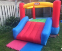 Little Tikes  jump n slide / bouncy castle rental for $50.00/day