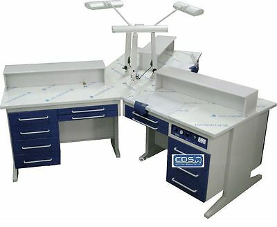 Dental 3 Person Workstation Bench Ax-yt1 Laboratory Wdust Collectors