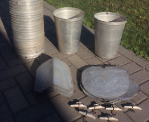 Aluminum Sap Bucket, spile and lid