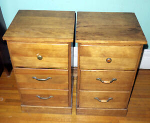 Solid Wood Bedside Table - Very Nice Condition