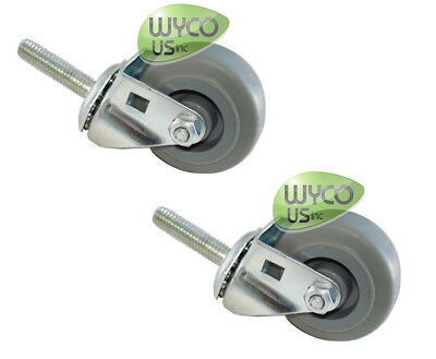 2 Caster Wheels For Squeegee Assy Tennant T5 T3 Scrubbers Repl 1006343 3d