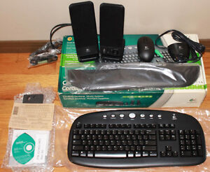 New Logitech Speakers with Cordless Mouse & Keyboard