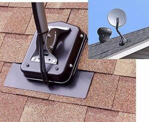 Dish Mounting Sysyem -  Non Penetrating Shingle Roof Satellite Mount, No Lags Bolts Required - 4 colors available
