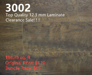 12.3 mm Laminate 3002 on Clearance, 186.76 sq.ft for $85 Only!
