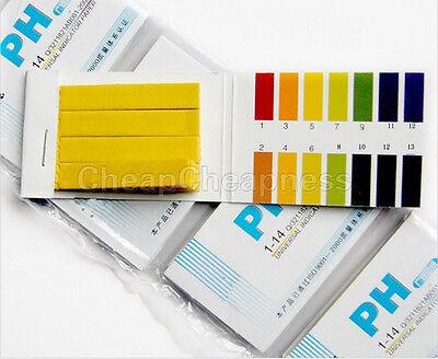 80x Ph Indicator Test Strips 1-14 Laboratory Paper Litmus Tester Urine Saliva Sp
