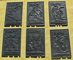 Yu-gi-oh Black Plastic Trading Cards from 1996 - Lot of 6.