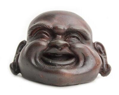 Cabeza de buda feliz alegre sonriente artesanía 9 cm
