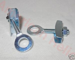 Chain-Tensioner-Adjuster-Pair-BMX-Track-Fixie-Pocket-Motor-Bike-3-8-Old-School-2
