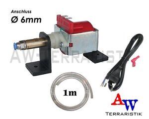 Druckpumpe für Beregnungsanlage Terrarium - mit Ständer - Anschluss Ø 6mm