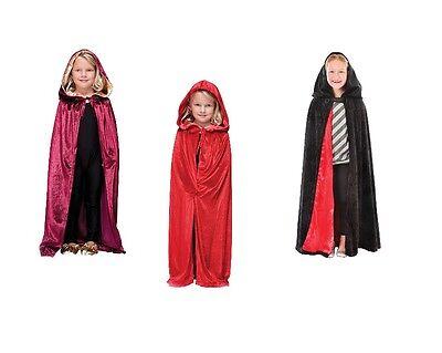 Velvet mit Kapuze # Mittelalterlich & Gothik Mantel Kinder Märchen - Märchen Kostüm Männlich