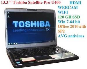13.3 -/HDMI/ Toshiba Satellite Pro U400/120GB SSD/4 GB RAM/Win7 Colyton Penrith Area Preview