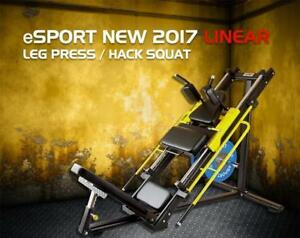 Free Shipping coupon code is eSPORT,NEW Light Commercial Linear Bearings Leg Press & Hack Squat LPH1000