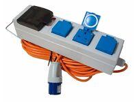 Maypole MP3765 Mobile Mains Power Unit 230V 10 Amp 20m Cable
