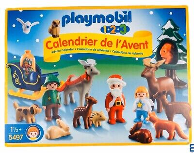 2013 Playmobil Advent Calendar 1.2.3 Christmas in the Forest Set #5497 NEW