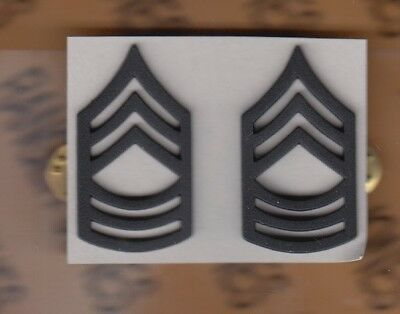 US ARMY Enlisted MSG MASTER SERGEANT E-8 dress rank clutchback badge set duty
