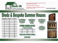 garden shed 6x4 7x5 8x6 10x8 anysize any shape bespoke service great quality