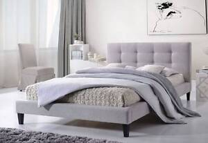 【Brand New】Modern Design Fabric Bed Frame Double Grey Melbourne CBD Melbourne City Preview