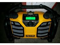 Pre owned Dewalt DCR017 DAB 240 and battery powered site radio
