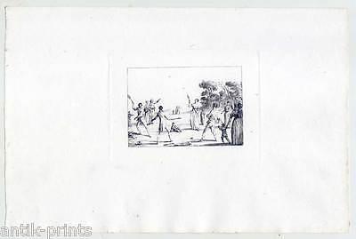 Federball - Kupferradierung v. Duplessis- Bertaux 1807