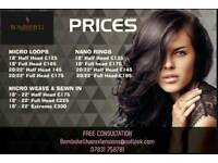 HAIR EXTENSIONS GLASGOW FITTING SERVICE FROM £125 - Micro/ Nano Rings, LA Weave, Micro Weave