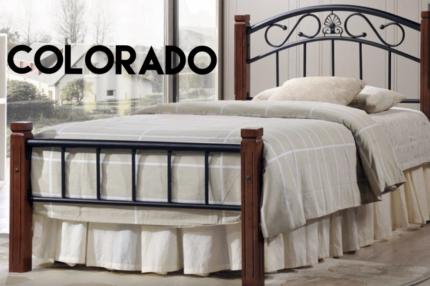 *** BRAND NEW*** Stylish Colorado Bed & Pillow Top Mattress Combo