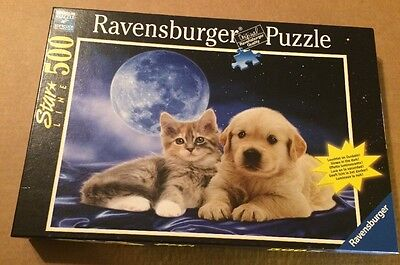 Ravensburger 500 Piece Puzzle Called The Best Of Friends (Glow in the