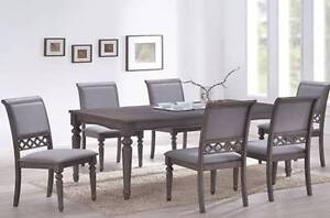 【Brand New】Grace 7PCs Solid Timber Dining Set Nunawading Whitehorse Area Preview