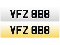 VFZ 888 – Price Includes DVLA Fees – Others Available - Cherished Personal Registration Number Plate