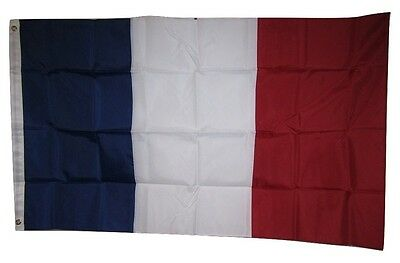 3x5 Embroidered France French Country 210D Nylon Flag 3'x5' sewn stripes