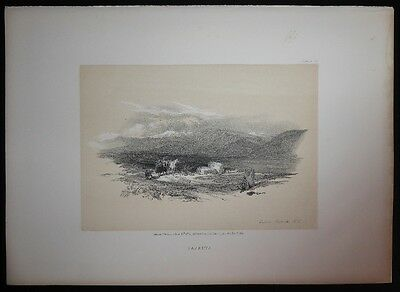 David Roberts Authentic 1855 Quarto Lithograph Plate 72 Sarepta