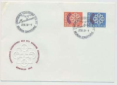 Schweiz Nr. 681-682 Ersttagsbrief / FDC, PTT-Konferenz 1959 (24525)