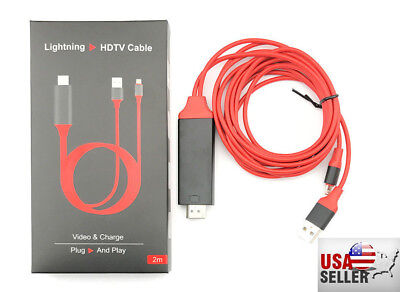 1080P 8 Pin Lightning to HDMI TV AV Adapter Cable for iPhone 5s 6 6S 7 8 Plus X