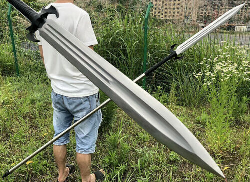 Hunting Fighting Spear Spearhead Sword Strong High Carbon Steel Sharp Long Spear