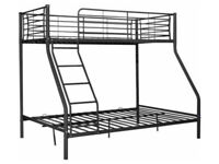 HOME Metal Triple Bunk Bed Frame - Black