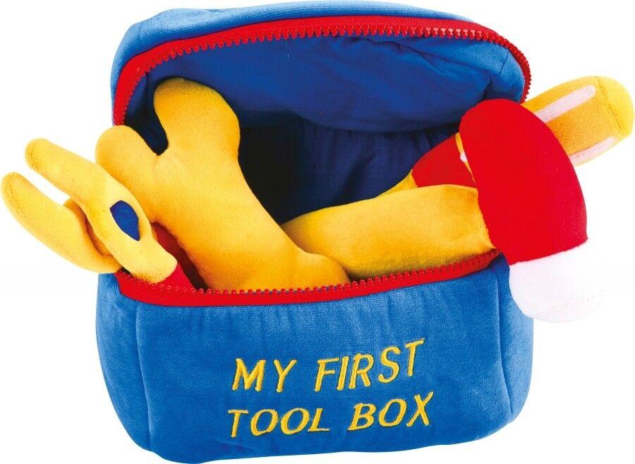 Werkzeugkasten, Babyspielzeug, weiche Werkzeuge mit Geräusch