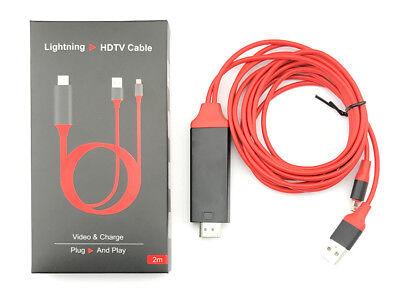 HDMI / HDTV Av TV Cable Adaptador Para Iphone X,8 ,7 ,6...