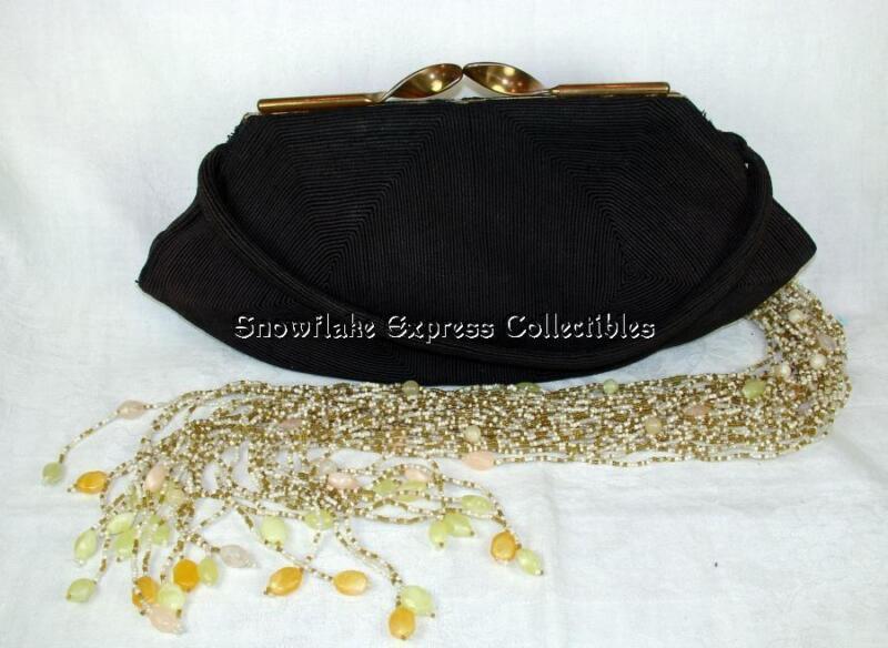 Vintage Genuine Korday Chocolate Brown Corde Ladies Arm Bag