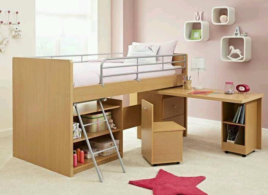Small Box Room Cabin Bed For Grandma: Children's Cabin Bed (Dreams Hampshire Cabin Bed) Inc Desk