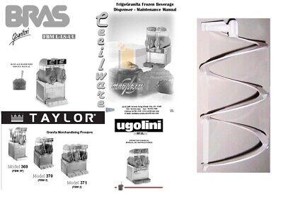 White Outer Spiral For Ugolini Taylor Cecilware Bras Slush Equipment
