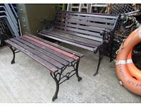 Beautiful Cast Iron Bench and Matching Table - Delivery Available