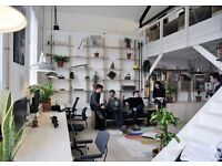 Desk space available in a beautiful split level warehouse unit in Hackney wick, Autumn Yard
