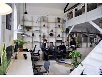 Desk space in a beautiful split level warehouse unit in Hackney wick, Autumn Yard