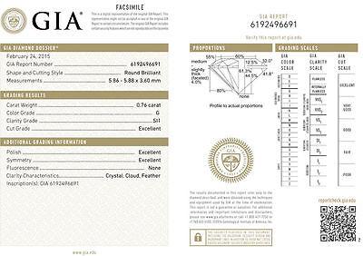 20.51 ct Round Diamond Tennis Bracelet 18k white Gold GIA G SI1 27 x 0.74-.77 ct 1